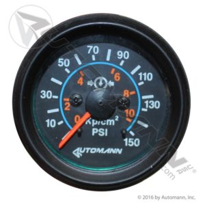 178.1003 Automann Black Air Gauge 150psi 2-1/16dia