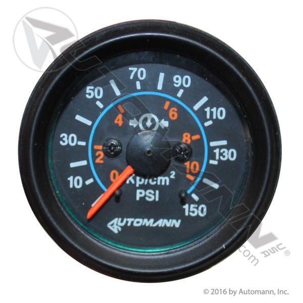 178.1003 Automann Black Air Gauge 150psi 2-1/16dia