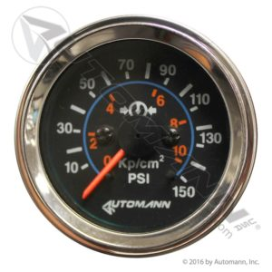 178.1103 Automann Chrome Air Gauge 150psi 2-1/16dia