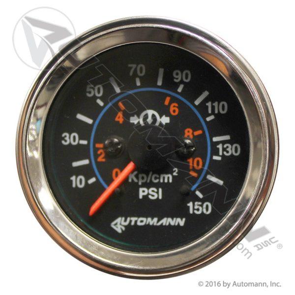 178.1103 Automann Chrome Air Gauge 150psi 2-1/16dia