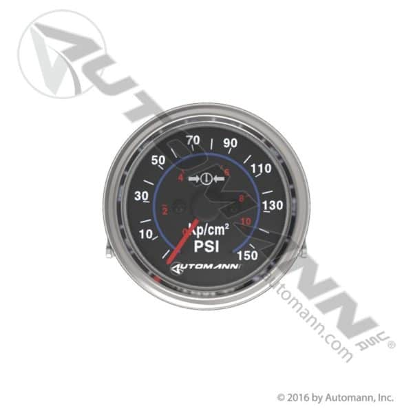 178.1103 Automann Chrome Air Gauge 0-150 psi 2-1/16 dia