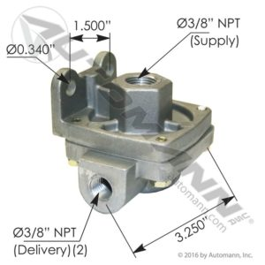 229859 Bendix Type QR1 - 3/8 NPT Ports