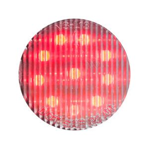 HD20010RC HD Lighting Round Red-Clear Marker 2'' 10 LED