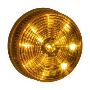 HD25012Y HD Lighting Round Amber Marker 2-1/2'' 12 LED