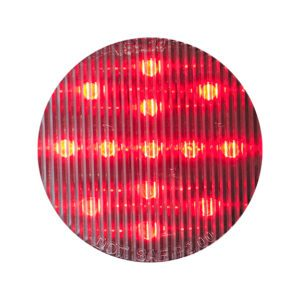 HD25013RC HD Lighting Round Red-Clear Marker 2-1/2'' 13 LED